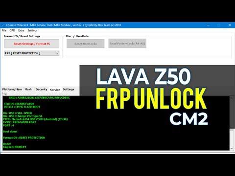 LAVA Z50 FRP UNLOCK CM2 (MT6735)