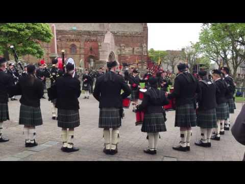 Kirkwall City Pipe Band at the Battle of Jutland Centenary Commemoration