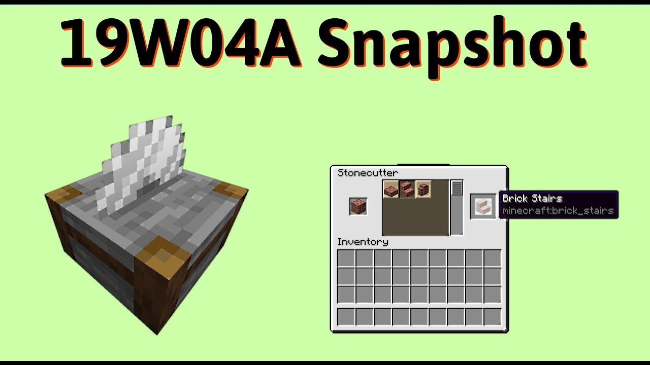 1 14 Minecraft Snapshot 19w04a Er Stairs Stonecutter Uses And Better Performance