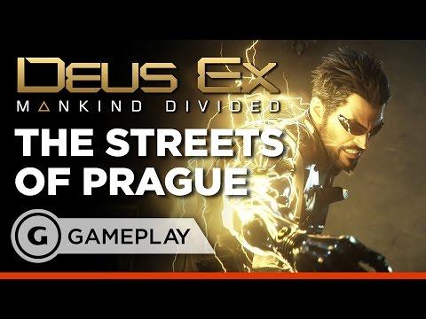 The Streets of Prague Gameplay - Deus Ex: Mankind Divided