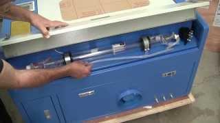 Cinese 50 Watt CO2 Laser Engraver-Cutter from eBay, Un-boxing