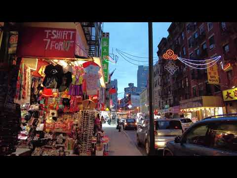 Walking NYC Chinatown, Manhattan from Grand Street to Mott Street (November 15, 2020) - ASMR