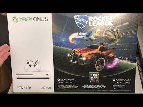 Xbox One S 1TB Rocket League Bundle Unboxing