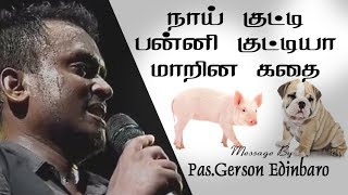 Pig And Dog Story | Gersson Edinbaro Message | Tamil Christian Message