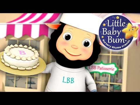 Pat-a-Cake | Nursery Rhyme with Lyrics | from LittleBabyBum!