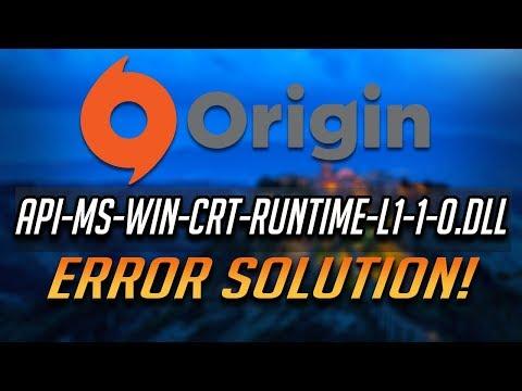 FIX Origin Error Api-ms-win-crt-runtime-l1-1-0.dll [2020]