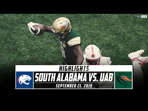 South Alabama Vs. UAB Football Highlights (2019) | Stadium