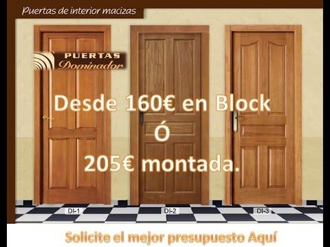 Fabricacion de puerta de madera maciza para interior for Cuanto cuesta una puerta de madera