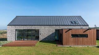 Diseño de casa de campo pequeña con planos