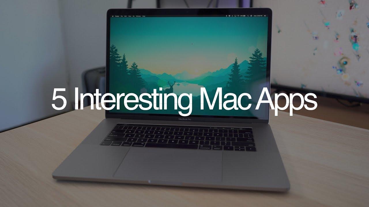 5 Interesting Mac Apps May 2018