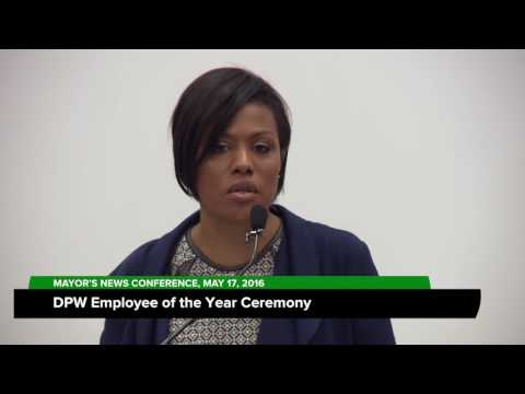 DPW Employee Of The Year Ceremony; May 17, 2016