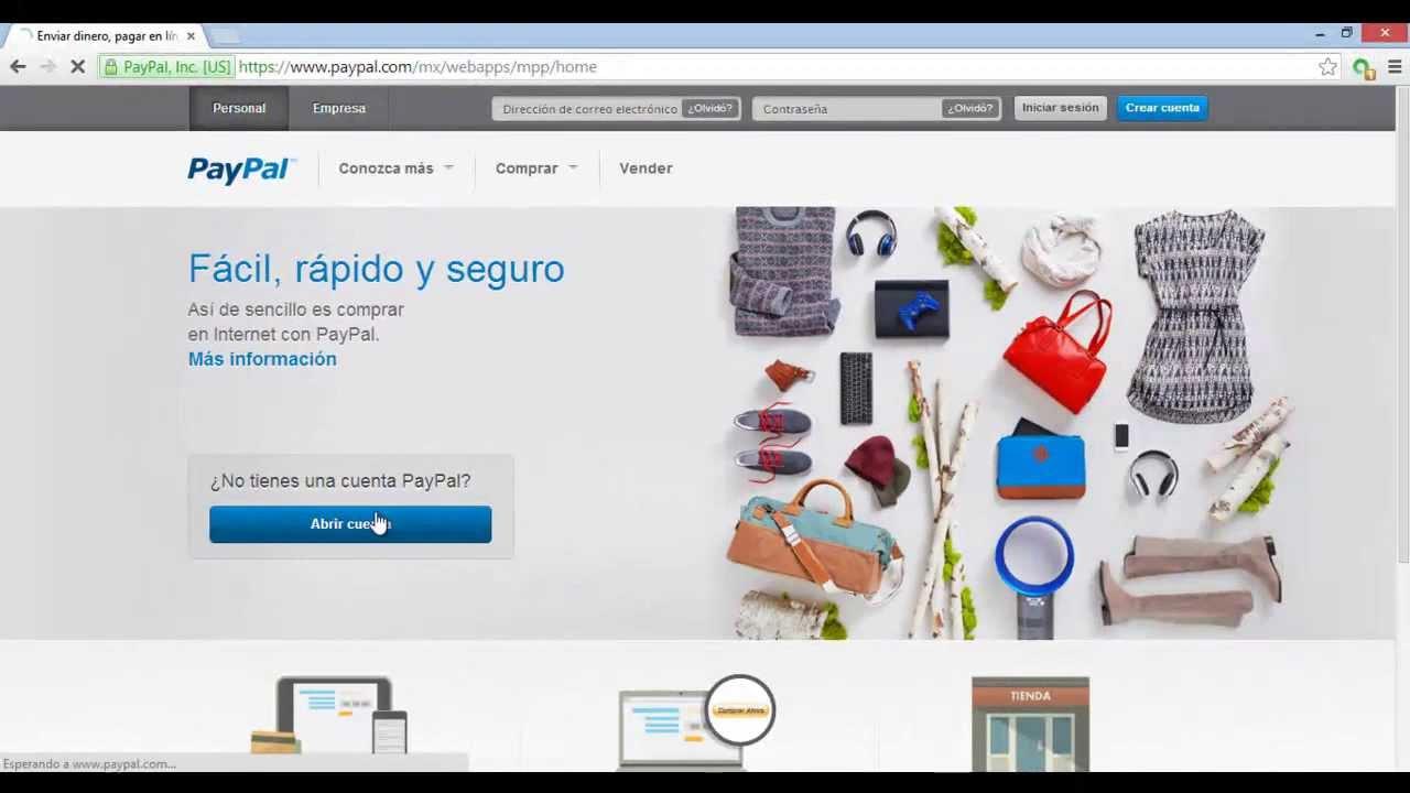 paypal en espanol registrarse
