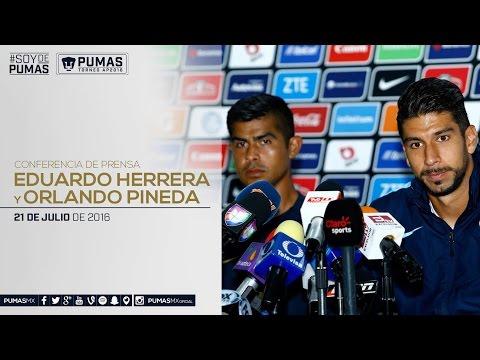 Eduardo Herrera y Orlando Pineda - Conferencia de prensa 21/07/2016