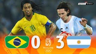 Brasil 0 X 3 Argentina Ronaldinho X Messi 2008 Olympics Semifinal Extended Goals Highlights MP3