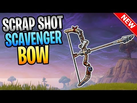 FORTNITE - Worst Bow In Save The World? New SCRAP SHOT Scavenger Bow Gameplay
