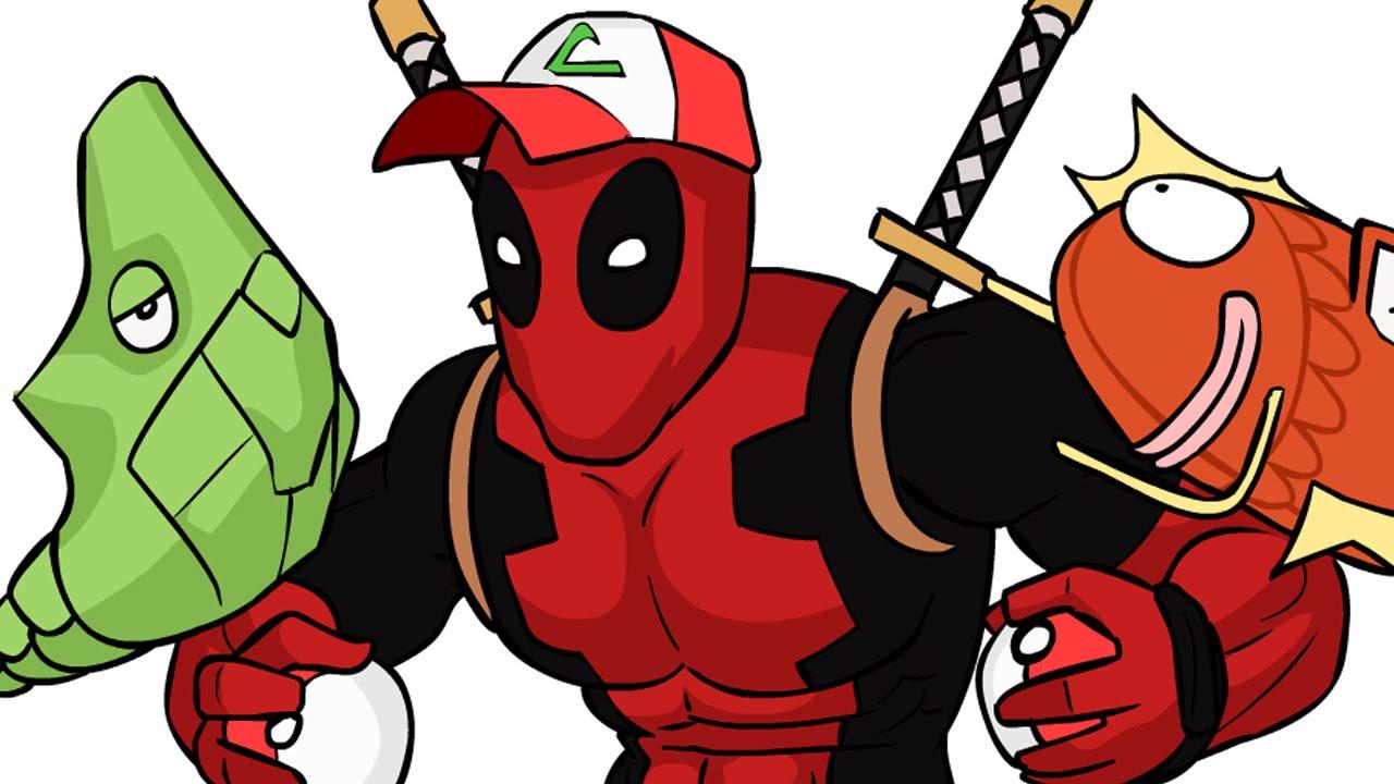 Letu0027s Animate Deadpool Battling Pokémon!   YouTube