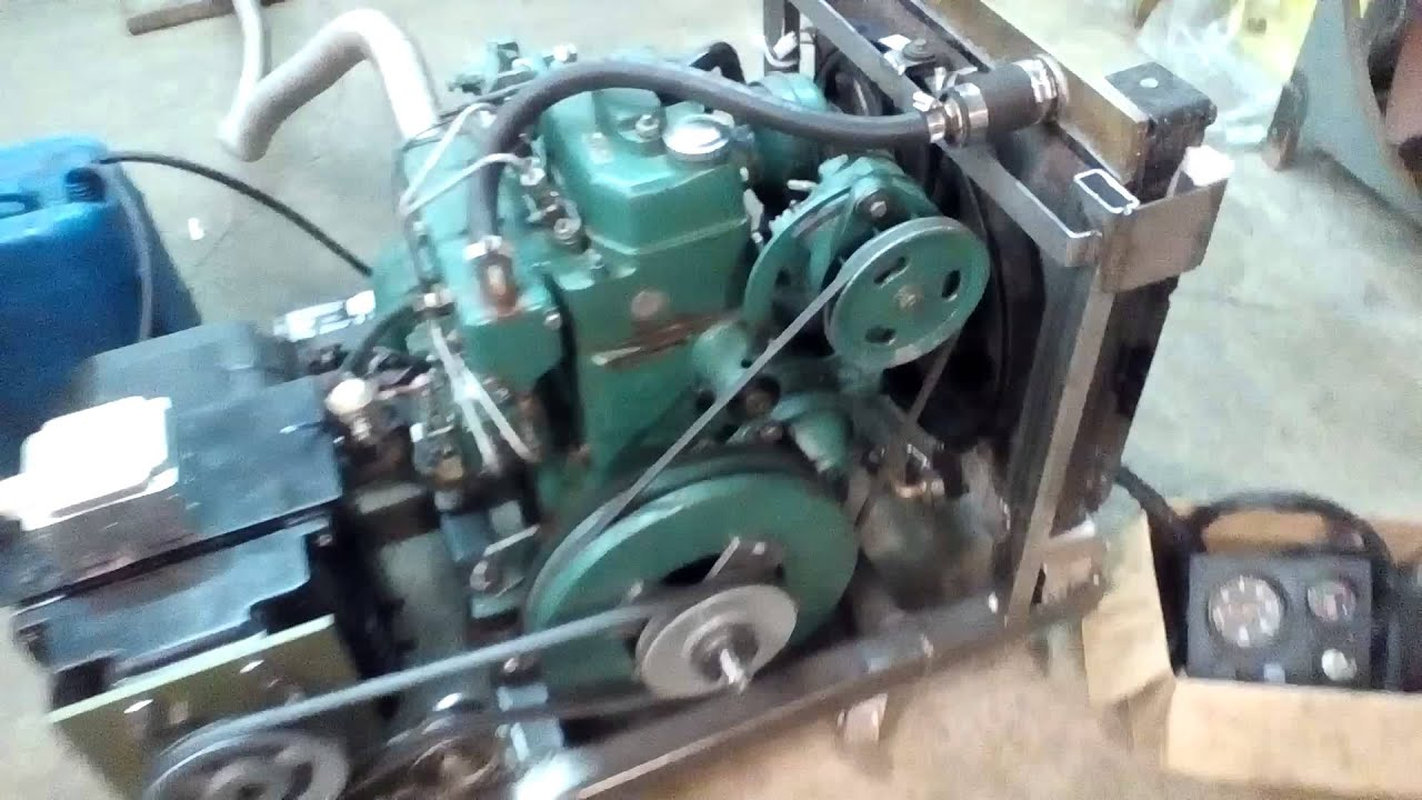 Volvo MD6b marine engine converted to home sel generator
