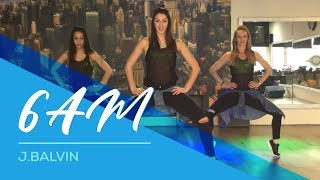 6AM  JBalvin  CumbiaMerengue version  Easy Fitness Dance Choreography