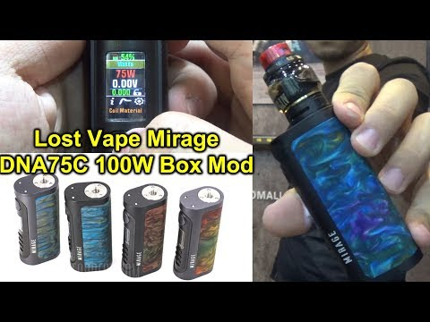 /Lost Vape Mirage DNA75C Box Mod | Unboxing And First Trial | Beautiful Smart DNA Chip Vape Mod Ever