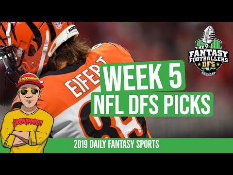 Week 5 DFS 🏈 DraftKings Lineup Building | FF Ballers DFS Podcast