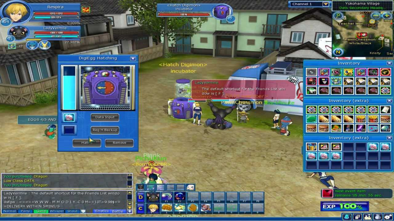 digimon masters online hatching agumon 5 5 youtube