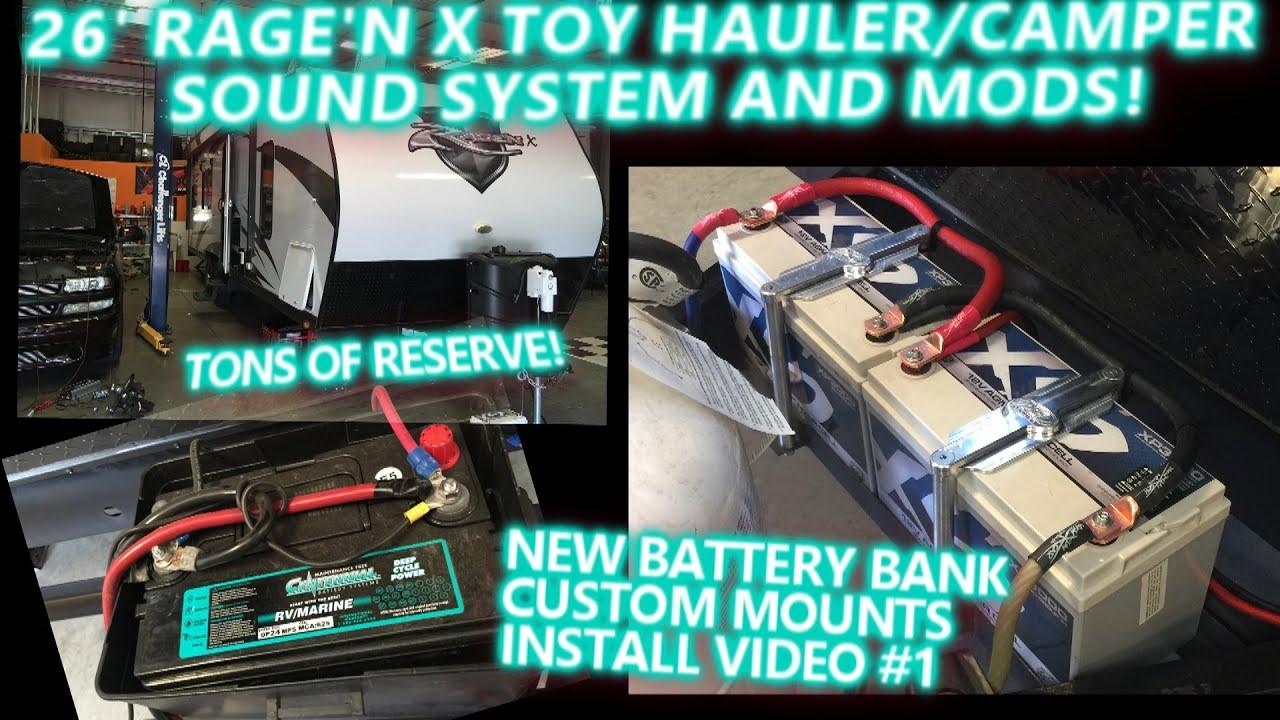 2015 Rage N X Toy Hauler Camper Sound System Amp Mods New