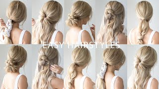 EASY BACK TO SCHOOL HAIRSTYLES 🍎 Everyday Hairstyles