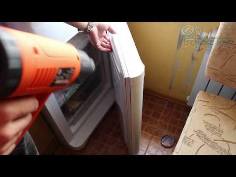 ☝️Как греть феном уплотнительную резинку двери холодильника.