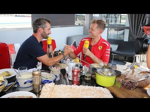 Timo Glock und Sebastian Vettel babbeln hessisch - Interview Hockenheim 2018 (RTL)