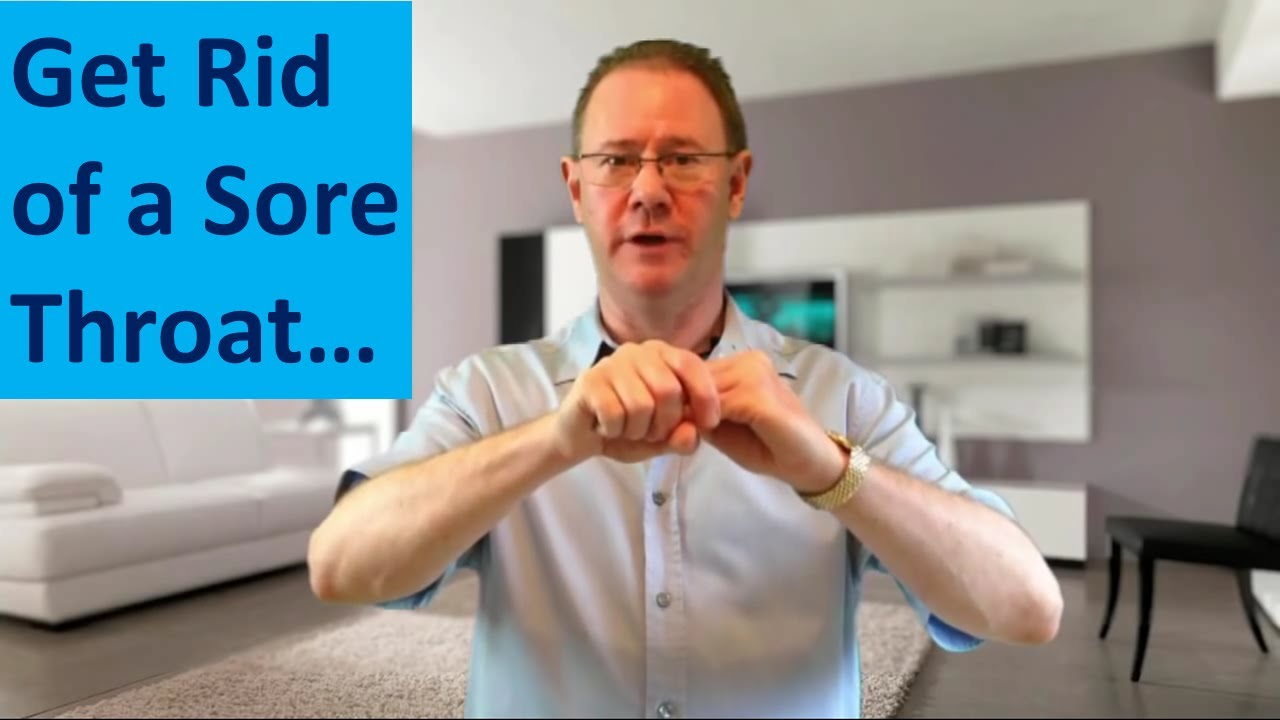 How To Get Rid Of A Sore Throat  Crazy Fast Sore Throat Cure Easy EFT Tapping  Try It Now