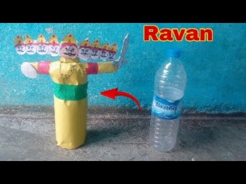 How to make Ravan with use of bottle ll Dussehra ll