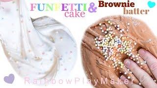 FUNFETTI CAKE &amp BROWNIE BATTER FLOAM SLIME DIY!! GIVEAWAY WINNER &amp SLIME Restock! ASMR NO MUSIC!