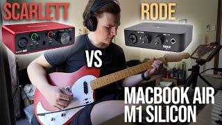 Rode AI-1 vs Focusrite Scarlett Solo (3rd Gen) Guitar Recording on M1 MacBook Air
