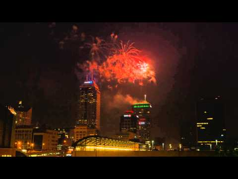 Fourth of July Fireworks - Downtown Indianapolis 2015(full show)