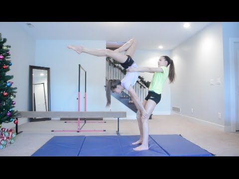 2 Person Acro Stunts!