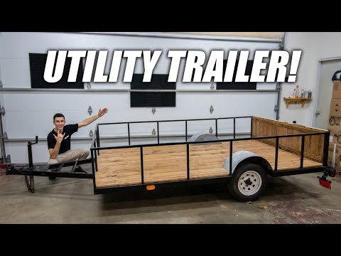Building A DIY Utility Trailer! *CHEAP*