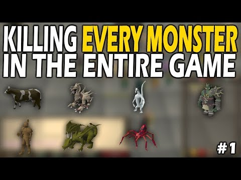 Killing EVERY SINGLE MONSTER In OSRS From Scratch | Episode #1