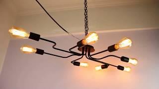 Lampundit Sputnik Chandelier 8-Light Flush Mount Ceiling Light