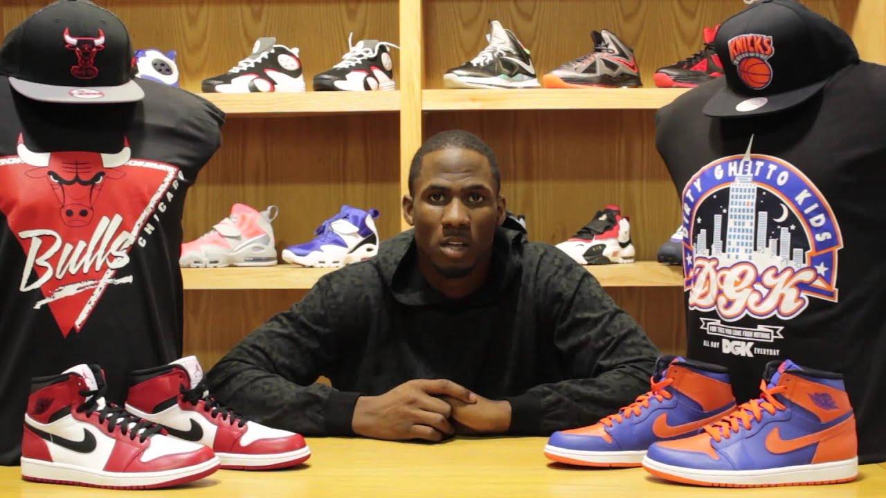 Retro Jordan Ones Knicks and Bulls Shoe Review - YouTube d3a4605b1