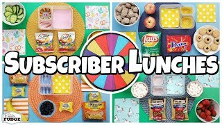 Mystery Wheel Chooses Subscriber Lunches 🍎 Fixing YOUR Lunches