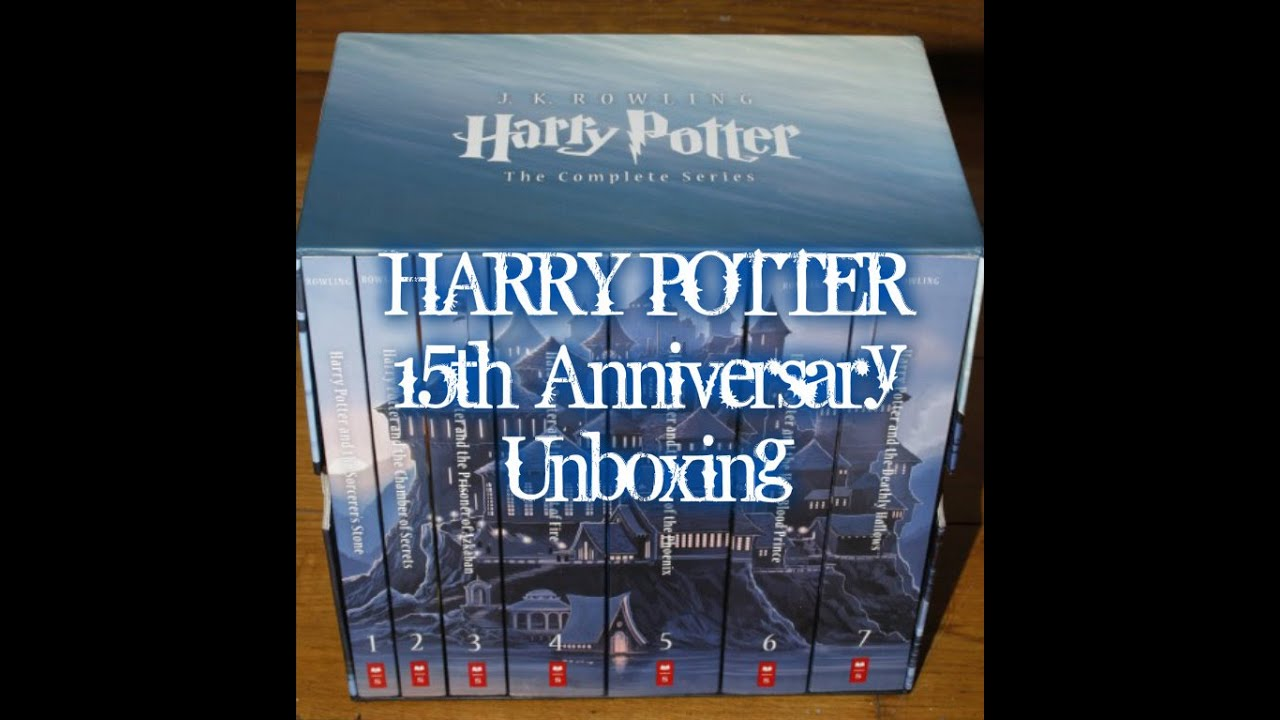 Harry Potter Book Unboxing : Harry potter box set th anniversary unboxing youtube
