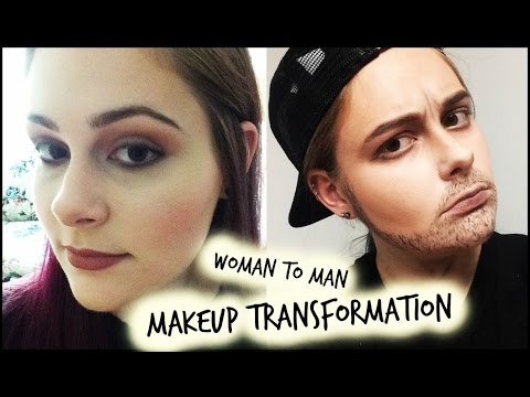 woman to man makeup transformation! let me know what you think!