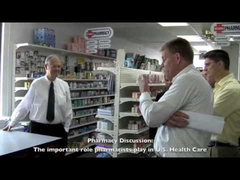 Congressman Skelton Visits Red Cross Pharmacy - Odessa, MO -