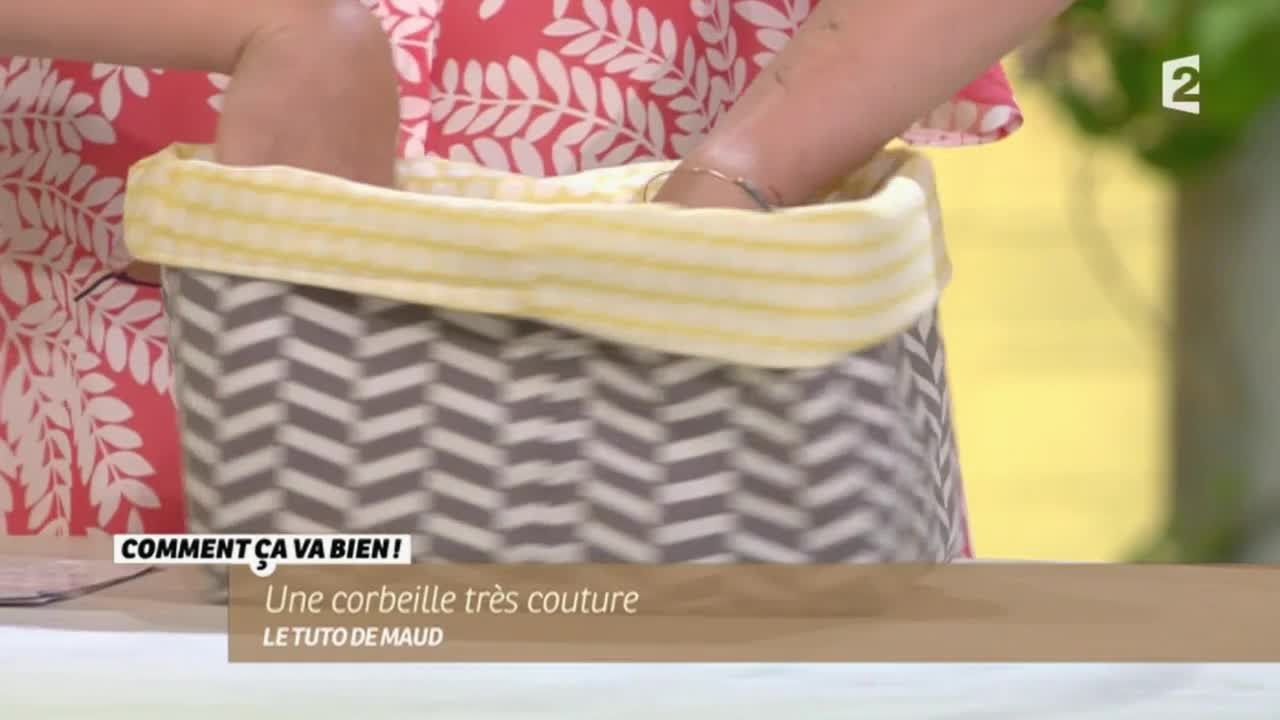 Diy une corbeille tr s couture ccvb youtube - Comment decorer une corbeille en osier ...