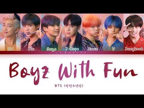 BTS - Boyz With Fun (방탄소년단 - 흥탄소년단) [Color Coded Lyrics/Han/Rom/Eng/가사]