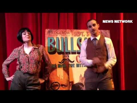 Hedgerow Theatre presents Bullshot Crummond The Man, The Myth, The Legend, a comic spoof of early de