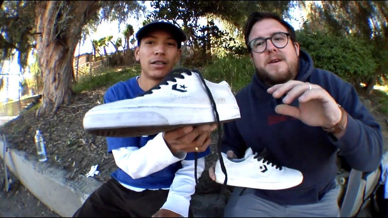 70a80ba6f72 Louie Lopez  100 Kickflips In The Converse Louie Lopez Pro - YouTube