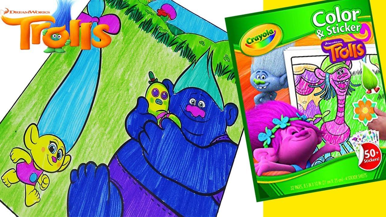 Trolls Dreamworks Movie Coloring Pages With Smidge Biggie Mr Dinkles Crayola Book Markers