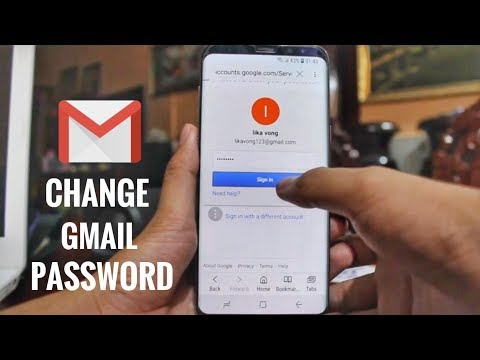 How do i update my gmail password on my iphone