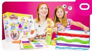 Play-Doh ліпи та вивчай кольори та фігури   Іграшковий набір пластиліну Play-Doh